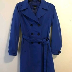 New York Company Women's blue double breasted coat